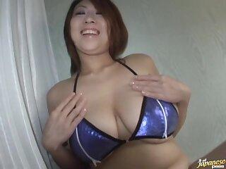 Amateur glaze of chubby tie the knot Suzuka Arinaga giving a blowjob